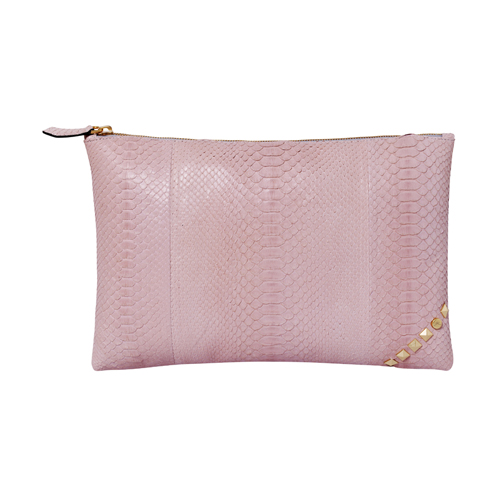 [불르아]ZIP CLUTCH_PALE PINK