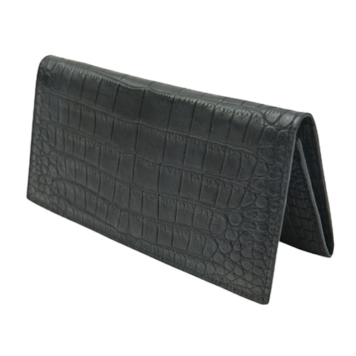 CROC LONG WALLET_BLACK