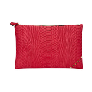 [불르아]MATT ZIP CLUTCH_RED